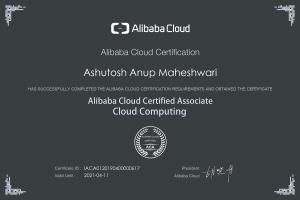 Alibaba Cloud Associate Ashutosh Maheshwari